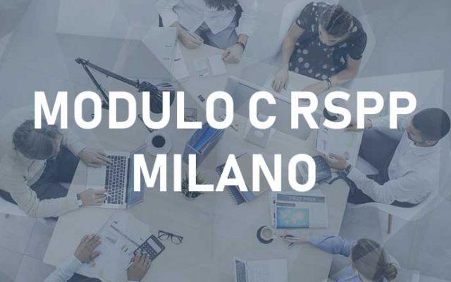 RSPP Modulo C – Milano