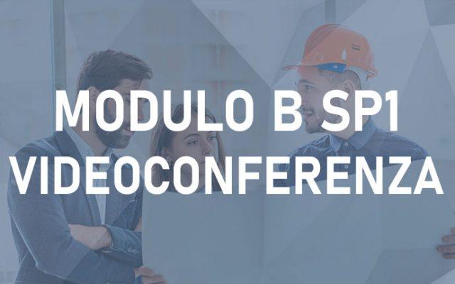 Modulo B SP1 12H –  Videoconferenza