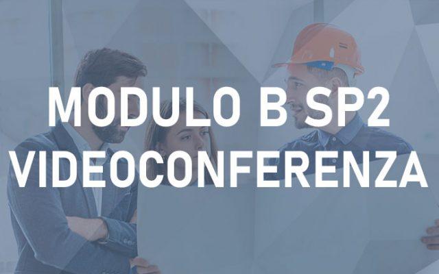 Modulo B SP2 16H –  Videoconferenza