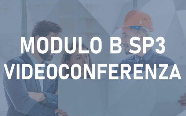 Modulo B SP3 12H –  Videoconferenza