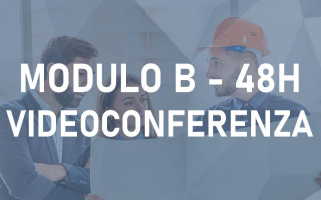 Modulo B 48h – Videoconferenza