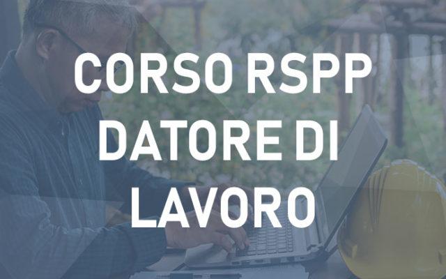 Corso RSPP Datore di Lavoro