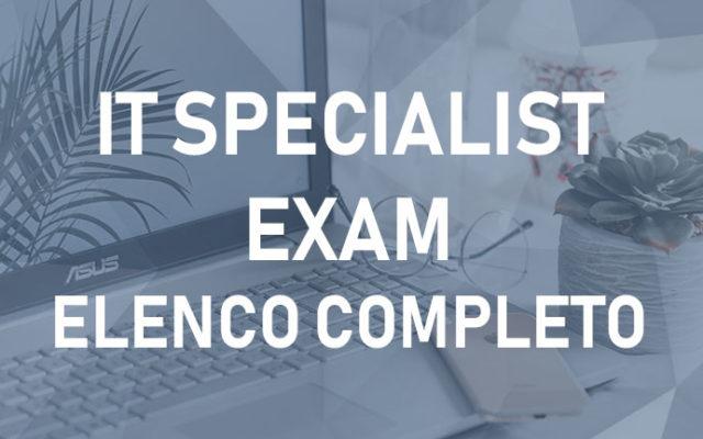 IT Specialist – Elenco Completo