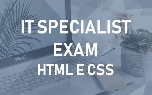 IT Specialist – HTML e CSS